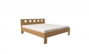 postel DALILA 160x200 čelo vysoké čtvercové výřezy dub