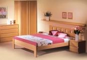 postel DALILA 200x200 čelo vysoké čtvercové výřezy buk
