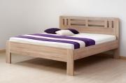 postel ELLA MOON 140x200 imitace dřeva