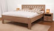 postel ELLA MOSAIC 140x200 imitace dřeva