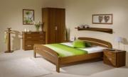 postel GABRIELA 160x200 s oblým čelem buk