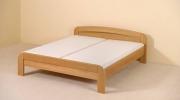 postel GABRIELA 160x200 s rovným čelem buk
