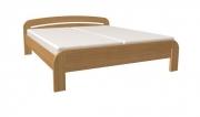 postel GABRIELA 160x200 s rovným čelem dub