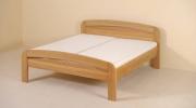 postel GABRIELA PLUS 160x200 s oblým čelem dub
