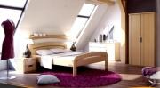 postel GABRIELA 200x200 s oblým čelem dub