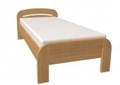 postel GABRIELA 90x200 s rovným čelem buk