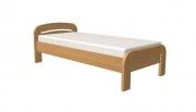 postel GABRIELA PLUS 90x200 s rovným čelem buk