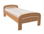 postel GABRIELA 90x200 s oblým čelem dub