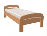 postel GABRIELA PLUS 90x200 s oblým čelem dub