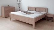 postel KARLO NIGHT 120x200 imitace dřeva