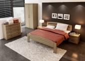postel MICHAELA 160x200 s oblým čelem buk