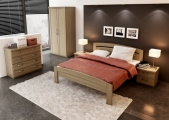 postel MICHAELA PLUS 160x200 s rovným čelem buk