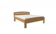 postel MICHAELA PLUS 160x200 s oblým čelem dub
