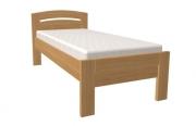 postel MICHAELA PLUS 90x200 s rovným čelem buk