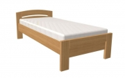 postel MICHAELA 90x200 s rovným čelem dub