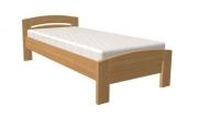 postel MICHAELA 90x200 s oblým čelem dub