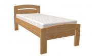 postel MICHAELA PLUS 90x200 s oblým čelem dub