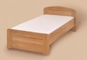 postel PAVLA vysoká 120x200 s rovným čelem buk