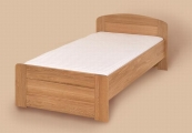 postel PAVLA vysoká 100x200 s rovným čelem buk