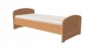 postel PAVLA vysoká 90x200 s oblým čelem dub