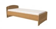 postel PAVLA vysoká 120x200 s rovným čelem dub