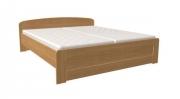 postel PAVLA vysoká 160x200 s rovným čelem dub