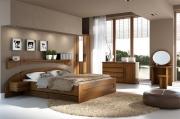 postel PAVLA vysoká 160x200 s oblým čelem dub