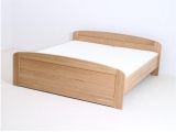 postel PAVLA vysoká 180x200 s oblým čelem dub