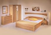 postel PAVLA vysoká 200x200 s rovným čelem dub