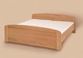 postel PAVLA vysoká 200x200 s oblým čelem dub