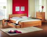postel ROMANA 140x200 buk jádrový