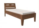 postel RÁCHEL 100x200 s plným čelem dub