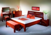 postel RÁCHEL 200x200 s plným čelem buk