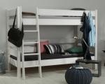 postel SENDY etážová buk bílý