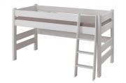 postel SENDY nízká buk bílá
