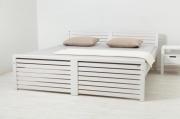 postel THOMAS - dvoulůžko bílá