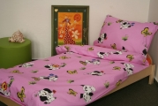povlečení dalmatin růžový bavlna