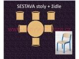 set K kruh pr.90 + 6 židlí