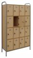 skříň v rámu s 16 boxy - uzavřené