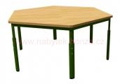 stůl HONZÍK KS šestiúhelník průměr 120cm - 6 nohou