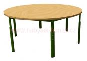 stůl HONZÍK KS kruh průměr 120cm - 6 nohou