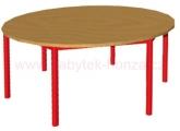 stůl HONZÍK K kruh průměr 120cm - 6 nohou