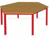 stůl HONZÍK K šestiúhelník průměr 120cm - 6 nohou