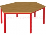 stůl HONZÍK K šestiúhelník pr.120cm, v.53cm
