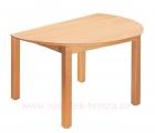 stůl HONZÍK U s úkosem průměr 120cm